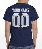 Idris University Custom Back Name and Number Men T-shirt Navy