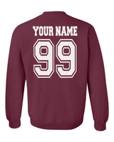 Customize - OLD Gryffindor CAPTAIN Quidditch Team White Ink Unisex Crewneck Sweatshirt Maroon Adult