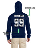 Customize - OLD Ravenclaw CAPTAIN Quidditch Team White Unisex Adult Pullover Hoodie Navy