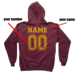 Customize - New Gryffindor CAPTAIN Quidditch Team Kid / Youth Hoodie Maroon