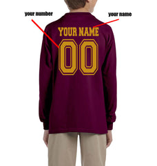 Customize - New Gryffindor BEATER Quidditch Team Kid / Youth Long Sleeves T-shirt tee