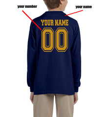 Customize - New Ravenclaw CHASER Quidditch Team Yellow Kid / Youth Long Sleeves T-shirt tee