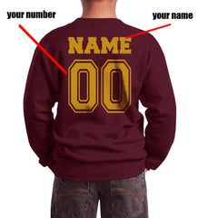 Customize - New Gryffindor KEEPER Quidditch Team Kid / Youth Crewneck Sweatshirt Maroon