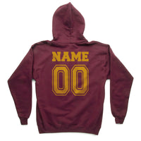 Customize - Gryffindor Crest #1 Yellow ink Back Kid / Youth Hoodie Maroon