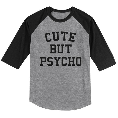 Cute But Psycho Unisex 3/4 Raglan Tee