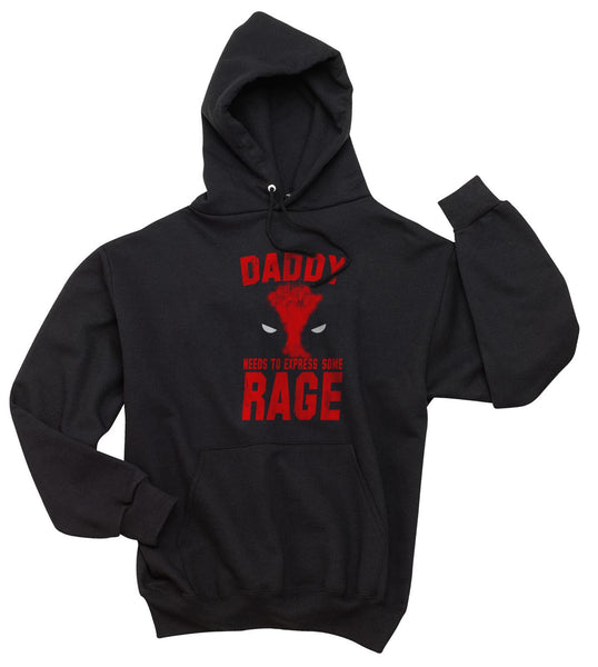 New Daddy needs to express some rage #1 Deadpool Unisex Pullover Hoodie - Meh. Geek