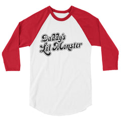 Daddy's Lil Monster Harley Quinn Suicide Squad Unisex 3/4 Raglan Tee