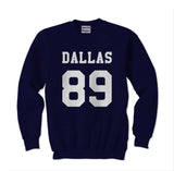 Dallas 89 White Ink on front Cameron Alexander Dallas Crewneck Sweatshirt - Meh. Geek