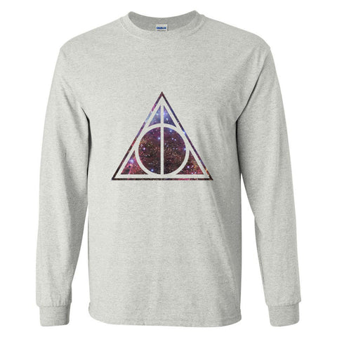 Deathly Hallows Nebula Harry potter Long sleeve T-shirt for Men - Meh. Geek