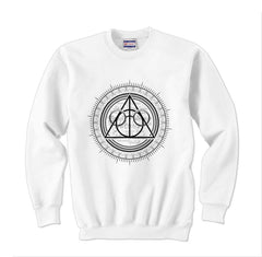 Deathly Hallows Art Harry potter Unisex Crewneck Sweatshirt - Meh. Geek