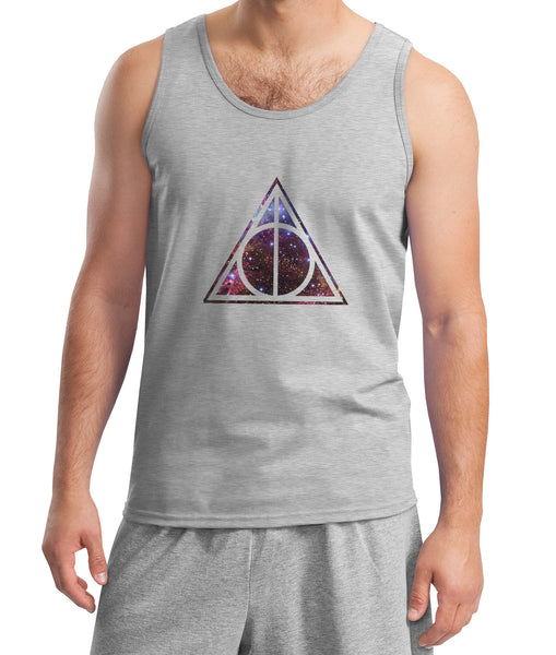 Deathly Hallows Galaxy Harry potter Men Tank Top