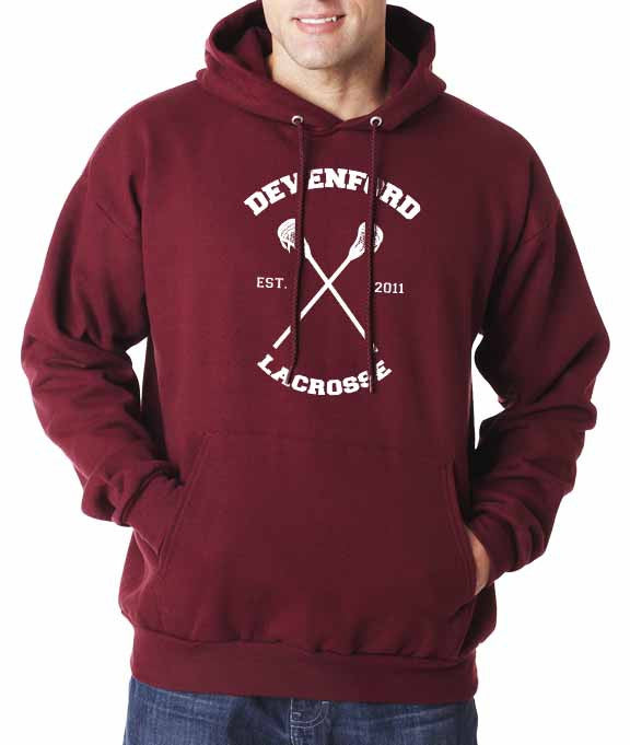 Beacon hills lacrosse Logo CROSS on front Pullover Hoodie - Meh. Geek