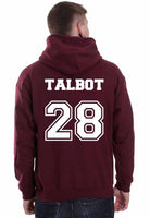 Talbot 28 on Back Devenford Prep Lacrosse Wolf Unisex Pullover Hoodie - Meh. Geek