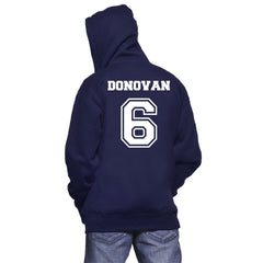 Donovan 6 Mystic Falls Timberwolves The Vampire Diaries Unisex Pullover Hoodie - Navy Blue