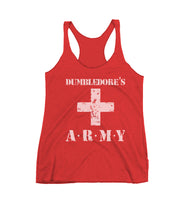Dumbledore's Army Triblend Racerback Women Tank Top