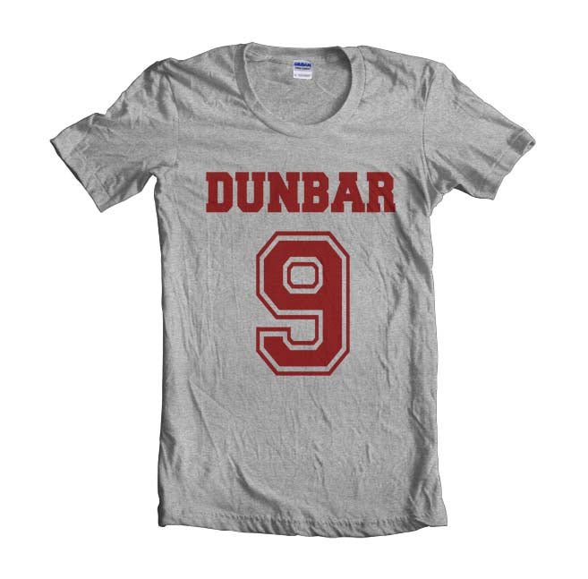Dunbar 9 Maroon Ink on front Beacon Hills Lacrosse Wolf Women T-shirt