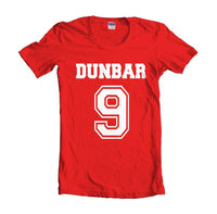 Dunbar 9 White Ink on front Beacon Hills Lacrosse Wolf Women T-shirt