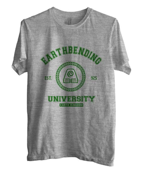 Earthbending University Green ink print Avatar Earth Bender Men T-shirt - Meh. Geek