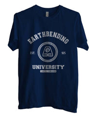 Earthbending University White ink print Avatar Earth Bender Men T-shirt - Meh. Geek