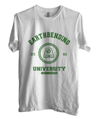 Earthbending University Green ink print Avatar Earth Bender Men T-shirt