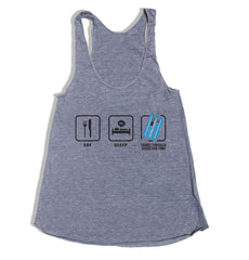 Eat Sleep Travel Through Space and Time Triblend Racerback Women Tank Top