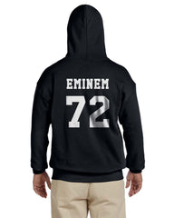 Eminem 72 White Ink On Back Unisex Pullover Hoodie - Meh. Geek
