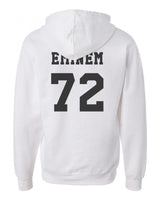 Eminem 72 Black Ink On Back Unisex Pullover Hoodie - Meh. Geek