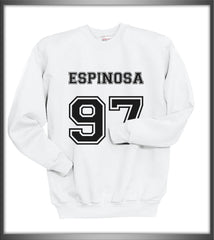 Espinosa 97 Black Ink on front Matthew Lee Espinosa Crewneck Sweatshirt - Meh. Geek