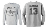 Fairchild 13 Idris University Long Sleeve T-shirt for Men Sport Grey - Meh. Geek - 1