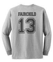 Fairchild 13 Idris University Long Sleeve T-shirt for Men Sport Grey - Meh. Geek - 3