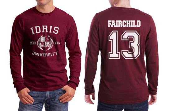 Fairchild 13 Idris University Long Sleeve T-shirt for Men Maroon - Meh. Geek - 1