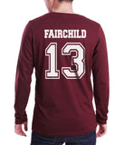 Fairchild 13 Idris University Long Sleeve T-shirt for Men Maroon - Meh. Geek - 3