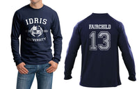 Fairchild 13 Idris University Long Sleeve T-shirt for Men Navy - Meh. Geek - 1