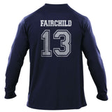 Fairchild 13 Idris University Long Sleeve T-shirt for Men Navy - Meh. Geek - 3