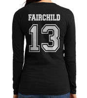 Fairchild 13 On BACK Idris University Long sleeve T-shirt for Women - Meh. Geek - 2