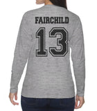 Fairchild 13 On BACK Idris University Long sleeve T-shirt for Women - Meh. Geek - 3
