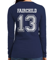 Fairchild 13 On BACK Idris University Long sleeve T-shirt for Women - Meh. Geek - 4