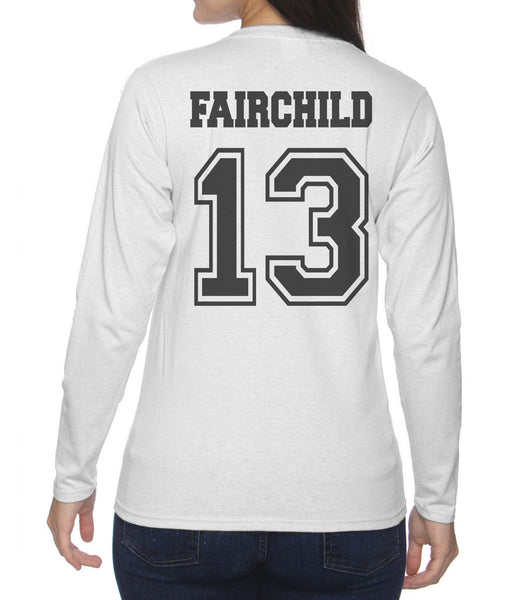 Fairchild 13 On BACK Idris University Long sleeve T-shirt for Women - Meh. Geek - 1