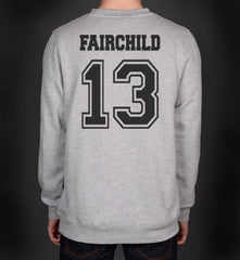 Fairchild 13 Idris University Unisex Crewneck Sweatshirt Heather Grey - Meh. Geek - 3