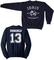 Fairchild 13 Idris University Unisex Crewneck Sweatshirt Navy - Meh. Geek - 1