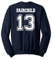 Fairchild 13 Idris University Unisex Crewneck Sweatshirt Navy - Meh. Geek - 3
