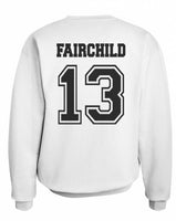 Fairchild 13 Idris University Unisex Crewneck Sweatshirt White - Meh. Geek - 3