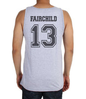 Fairchild 13 Idris University Men Tank Top Heather Grey