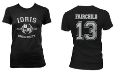 Fairchild 13 Idris University Women T-shirt Black