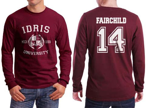 Fairchild 14 Idris University Long Sleeve T-shirt for Men Maroon - Meh. Geek - 1