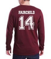 Fairchild 14 Idris University Long Sleeve T-shirt for Men Maroon - Meh. Geek - 3