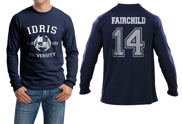 Fairchild 14 Idris University Long Sleeve T-shirt for Men Navy - Meh. Geek - 1
