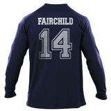Fairchild 14 Idris University Long Sleeve T-shirt for Men Navy - Meh. Geek - 3
