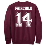 Fairchild 14 Idris University Unisex Crewneck Sweatshirt Maroon Adult