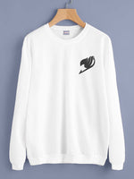 Fairy Tail symbol Bw Pocket Crewneck Sweatshirt Adult